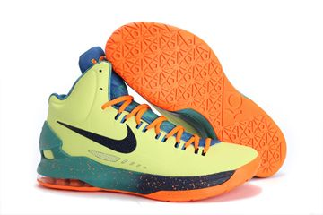 Mens Nike Zoom KD V (5) All Star Area 72 liquid lime obsidian-sport  turquoise-total crimson Basketball Shoes 17a969491