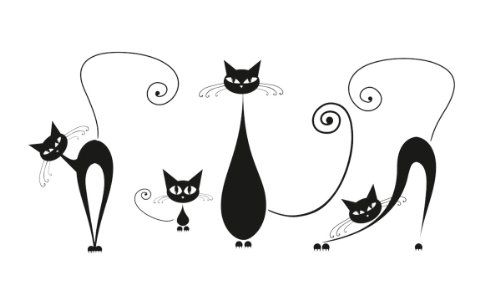 $30.43 Platin Art Wall Decal Deco Sticker, Black Cats Platin Art,http:/