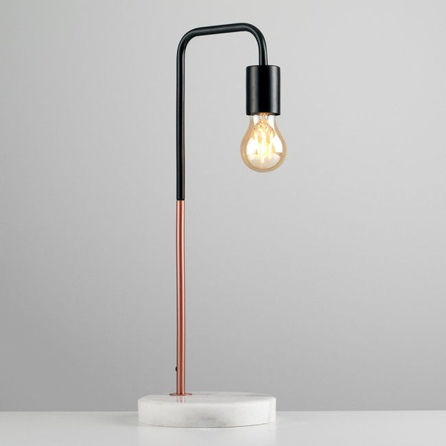 Buy talisman black copper led table lamp white marble base from our table desk bedside lamps range at tesco direct