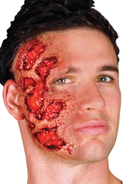 Adult Burnt Face Halloween Special Effect Makeup kit