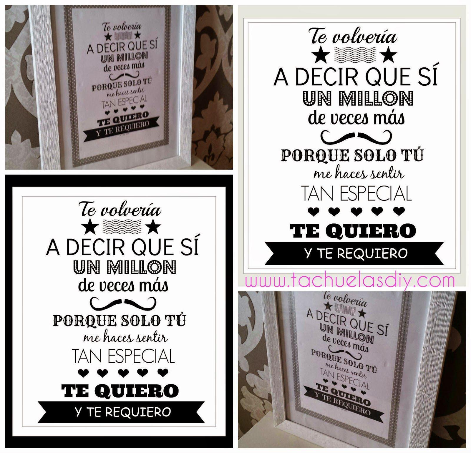 TACHUELAS DIY & CO DIY Lámina art print para demostrar tu amor imprimible gratis