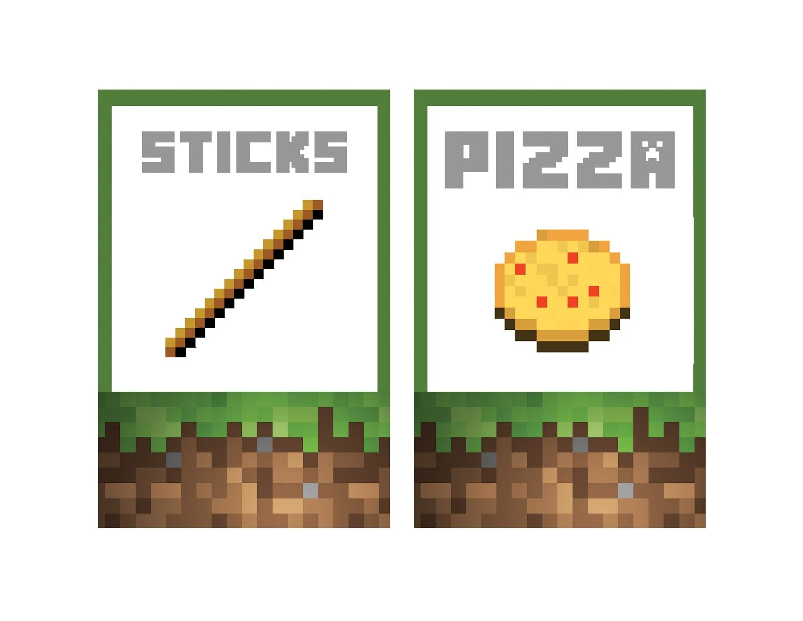 photo about Minecraft Labels Printable named Plenty of Printables!! Minecraft Food items Labels Tanners