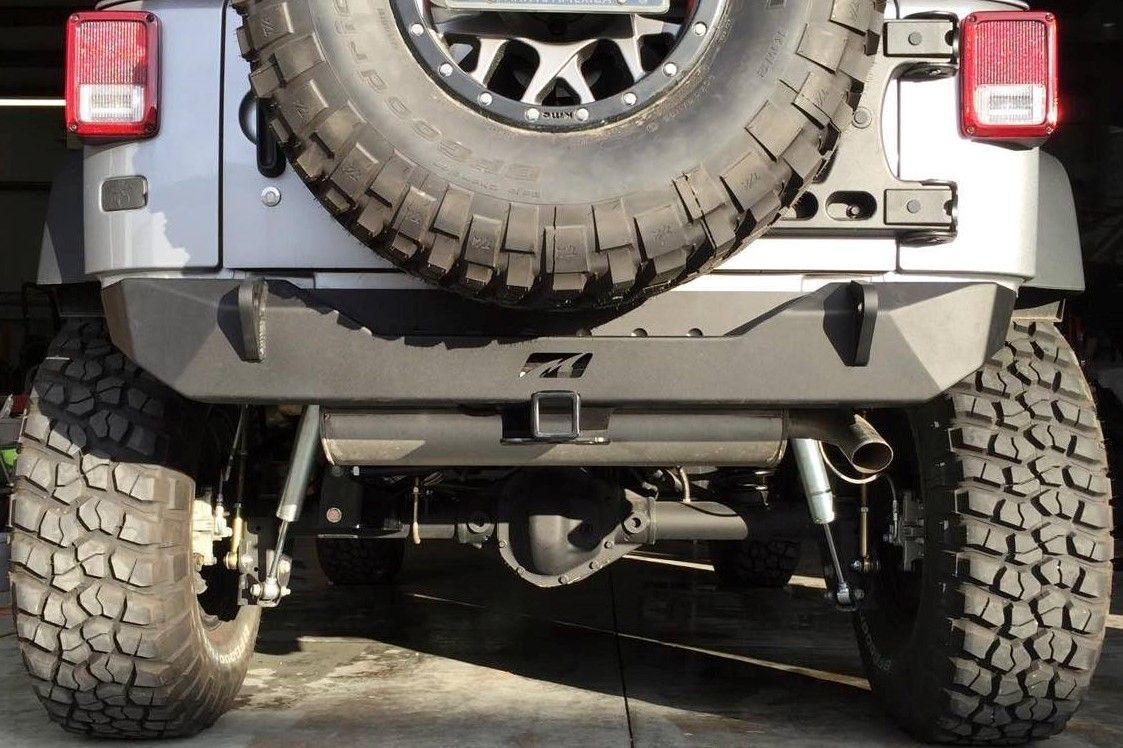 The Motobilt Jeep Jk Rear Stubby Bumper Was Built To Be Compact And Strong The Bumper Body Is Constructed With 3 16 High Strength S Jeep Jk Jeep Bumpers Jeep