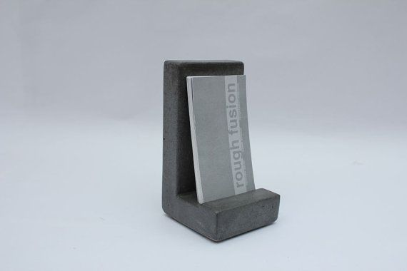 Concrete Business Card Holder by roughfusion on Etsy, $29.00