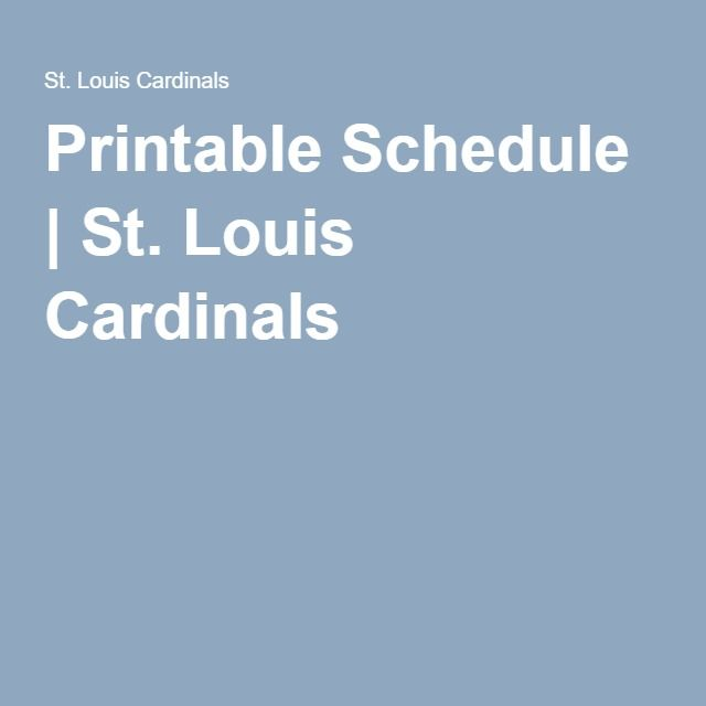 picture relating to St Louis Cardinals Printable Schedule known as Printable Agenda St. Louis Cardinals Cardinals 2016