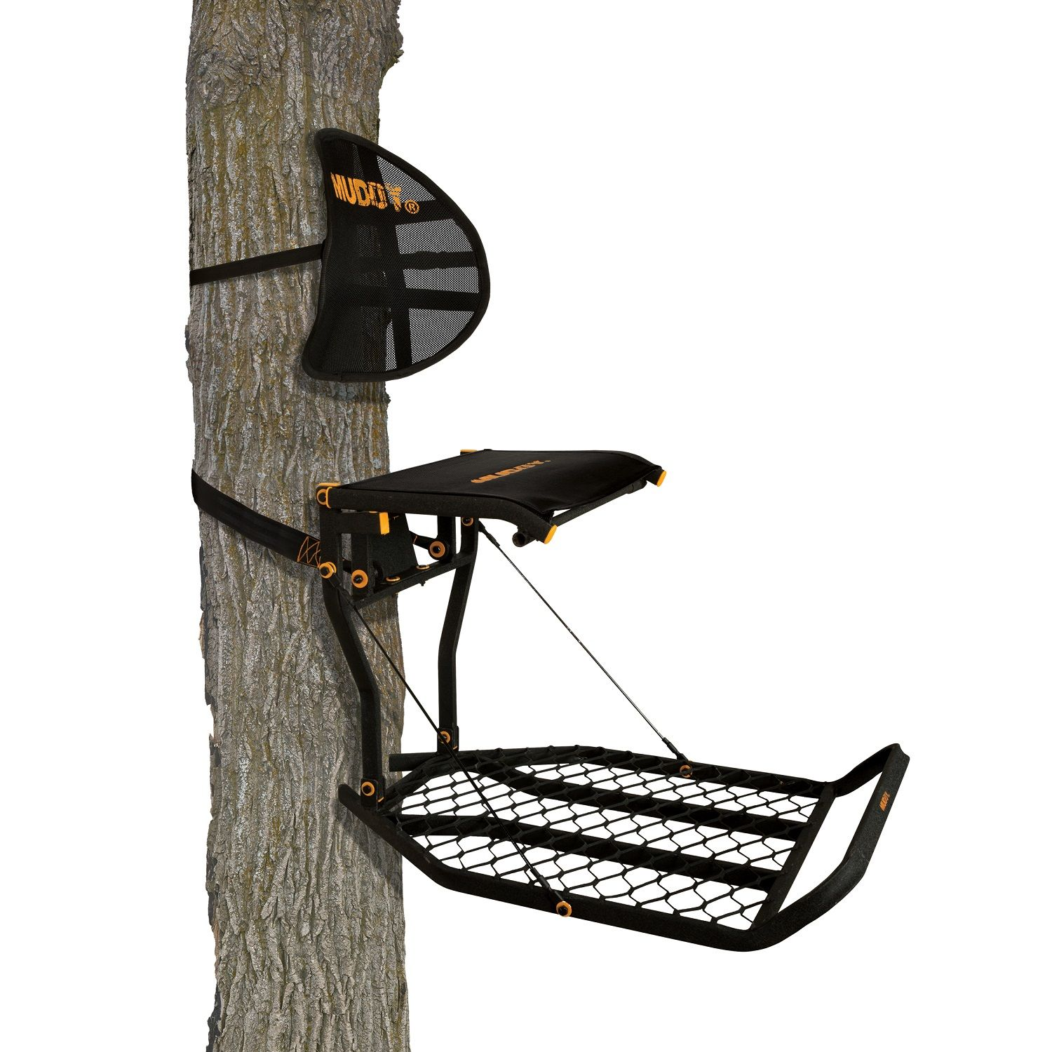 Muddy Prodigy Fixed Position Treestand, Orange Seat