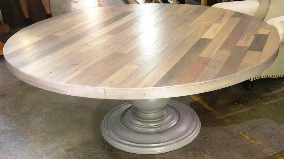 Custom Made Hand Crafted 66 Inch Plank Top Dining Table