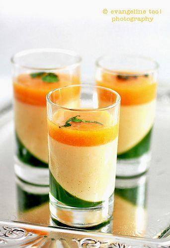 Apricot Panna Cotta With Mint Gelée & Apricot Sauce by bossacafez, via Flickr