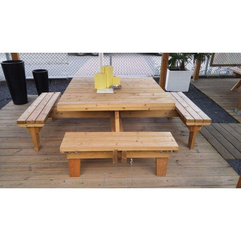 table de jardin carree avec banc id es