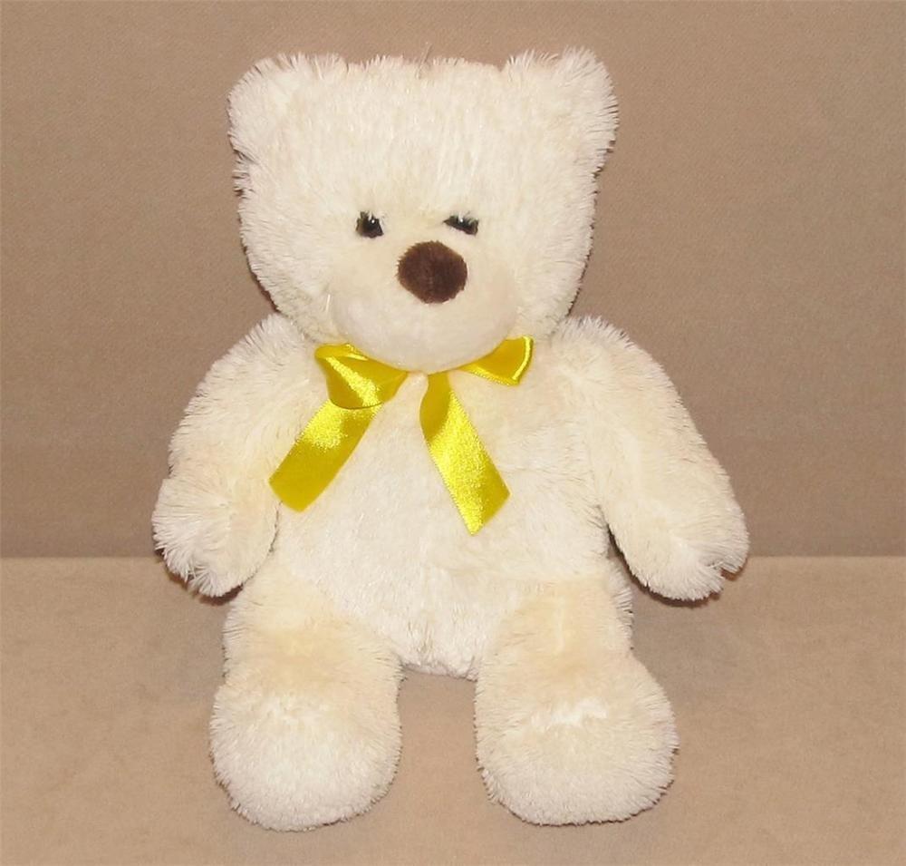 Animal Adventure Cream Teddy Bear Yellow Bow 12 Plush Stuffed Toy 2014 L6159t Animaladventure Cream Teddy Bear Teddy Bear Plush Animals [ 955 x 1000 Pixel ]