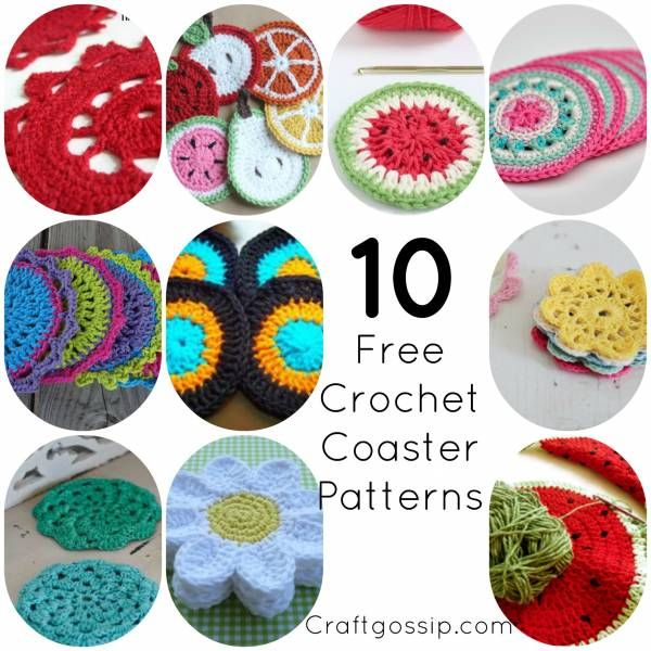 10 Easy Crochet Coaster Patterns | Knitting/Crocheting Projects ...