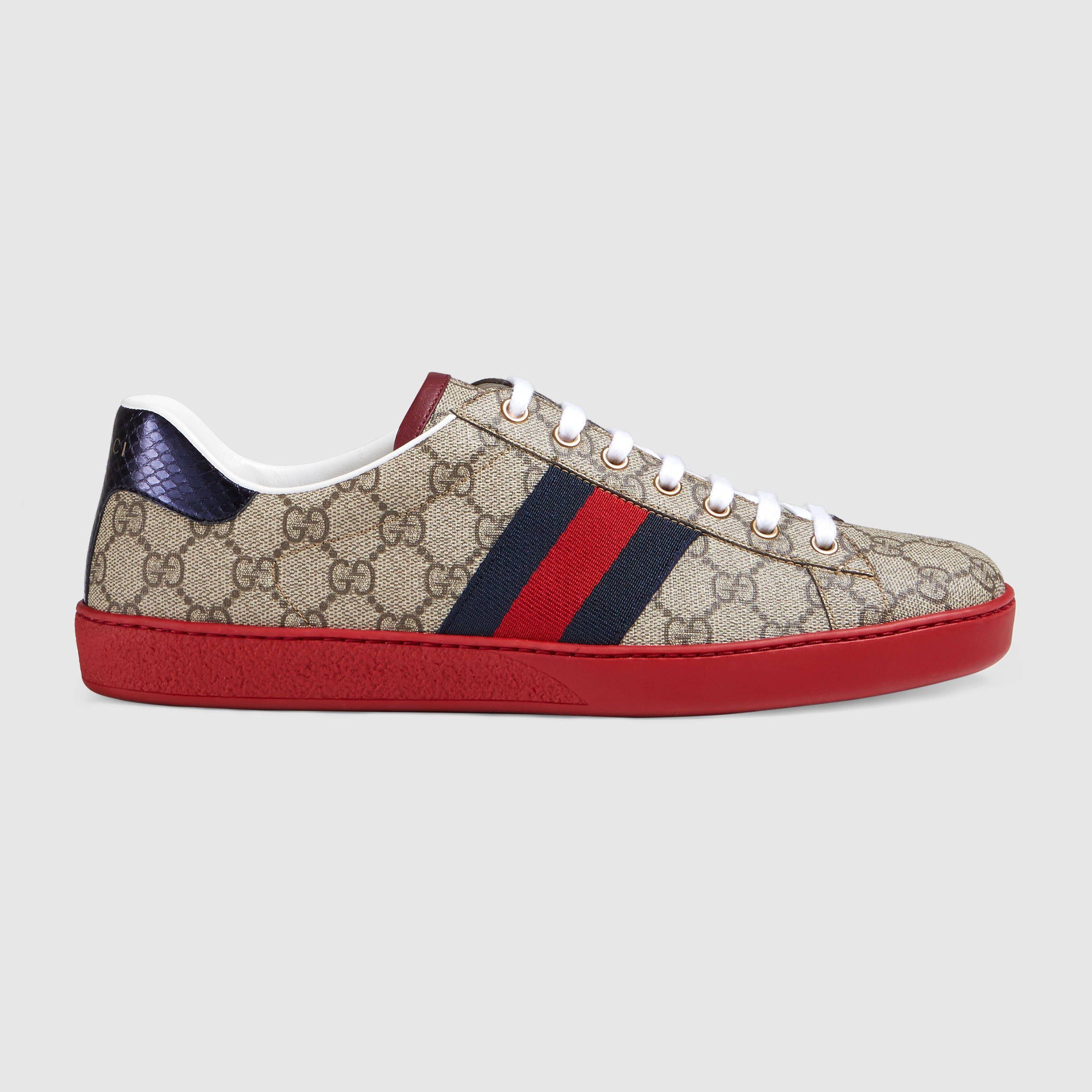 Gucci Sneakers Bordeaux Red Shoes For Men Online-Shop