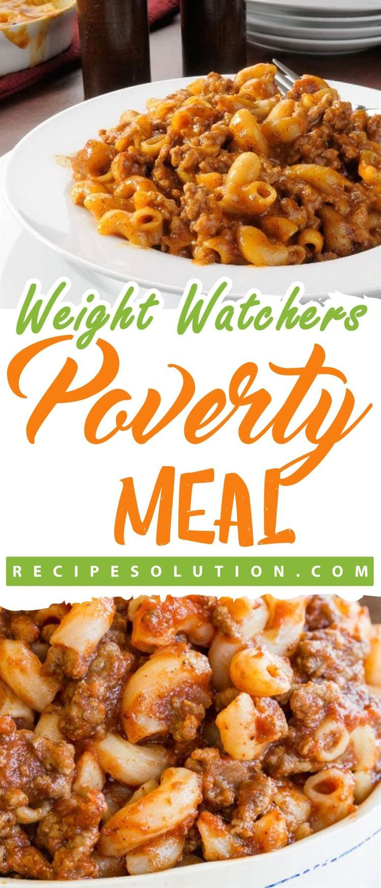 Poverty Meal Recipe Solution Weight Watchers In 2019 Ground Beef Recipes Weight Watchers