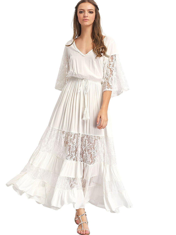 Bohemian Long Sleeve Wedding dress 🌸 BOHO JOY 🌸 Long