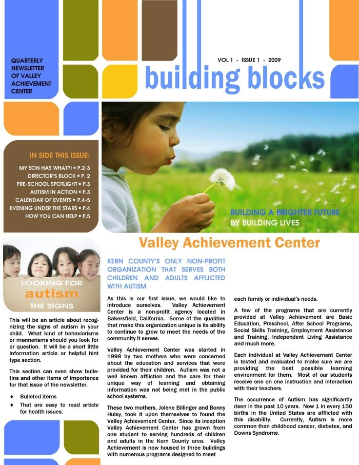 √ Learning center elementary school newsletter template word fresh