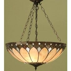 Brooklyn Large Tiffany 3 Chain Pendant Light Art Deco Style 63976 Tiffany Ceiling Lights Ceiling Pendant Lights Ceiling Lights