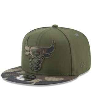 New Era Chicago Bulls Operation Camo 9FIFTY Snapback Cap - Green Adjustable 88e0a7eedb2