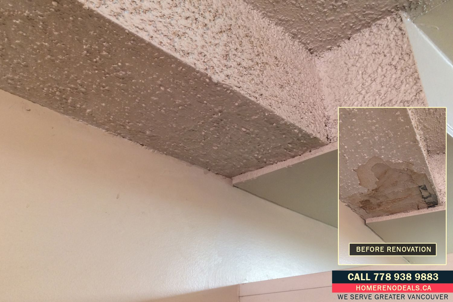 Popcorn Ceiling Texture Repair Service Home Renovation Deals In Greater Vancouver Bc Greatroom Familyroom Twostory Cofferedceiling Designer
