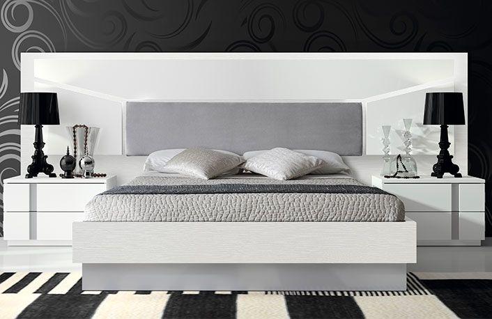 Dormitorio moderno blanco gris texas Dormitorios Pinterest Bed