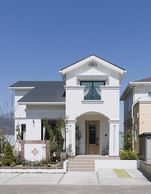 建築実例 モダンハウスの外観 ホームウェア ヴィンテージホーム