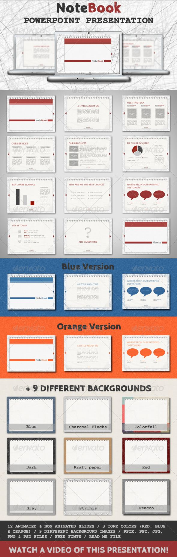 Notebook Powerpoint Template Template Presentation Templates