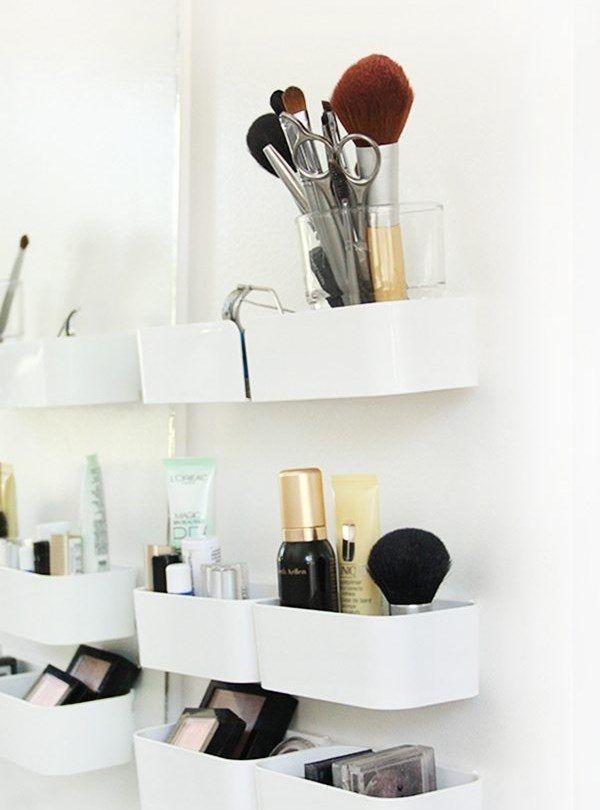 Rangement Maquillage 52 Idees Conseils Astuces En 2020 Rangements Maquillage Rangement Maquillage Diy Petit Meuble Rangement