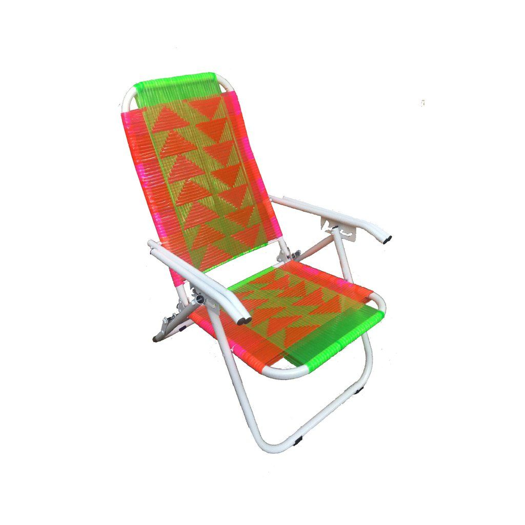 Psychedelic Metal Plastic Cane Reclining Foldable Lounge Chair Chair Relaxing Chair Garden Chairs