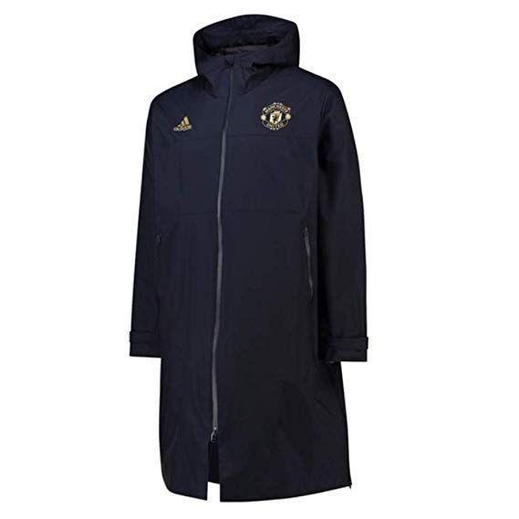 b76f56e6b adidas 2018-2019 Man Utd UCL Long Padded Coat (Navy)
