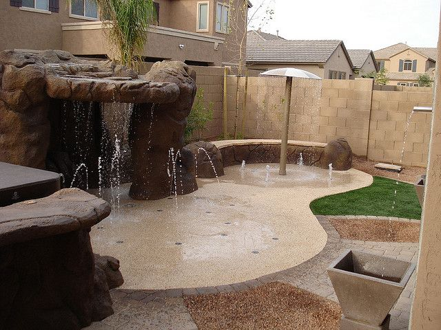 Splash Pad Yard Backyard Playground Backyard Splash