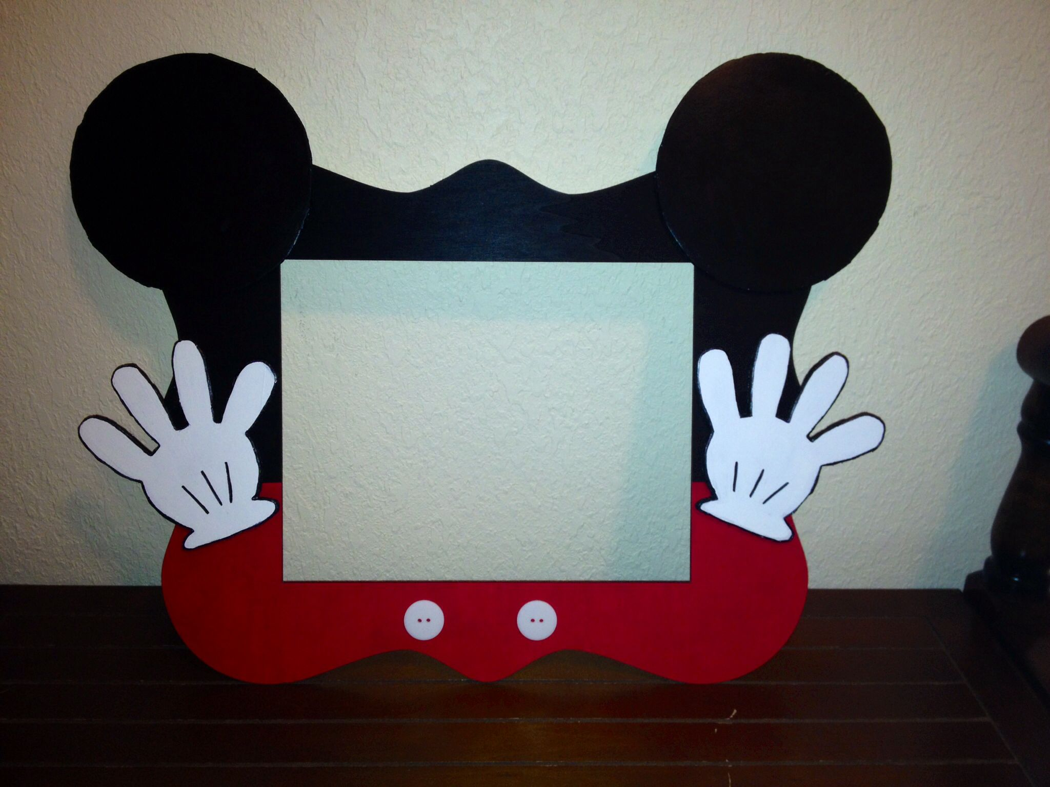 Mickey Mouse Photo Frame Mickey Mouse Party Pinterest