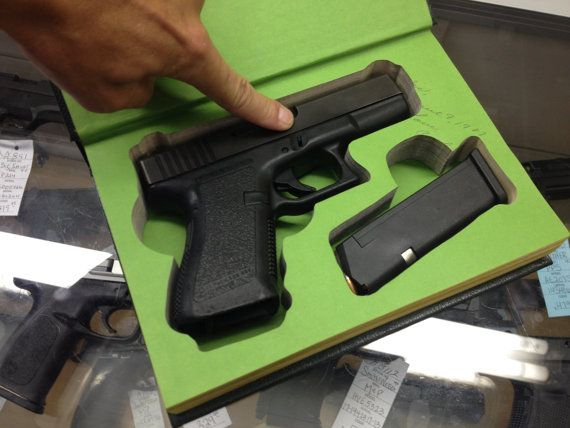 Book Safe For Glock 19 26 27 30 36 42 43 Handguns By Bookmods