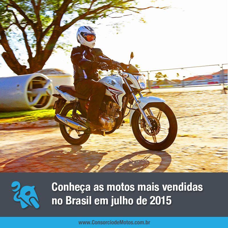 Confira na matéria quais foram as motocicletas mais comercializadas no último mês de julho no Brasil: https://www.consorciodemotos.com.br/noticias/as-motos-mais-vendidas-no-brasil-em-julho-de-2015?idcampanha=288&utm_source=Pinterest&utm_medium=Perfil&utm_campaign=redessociais