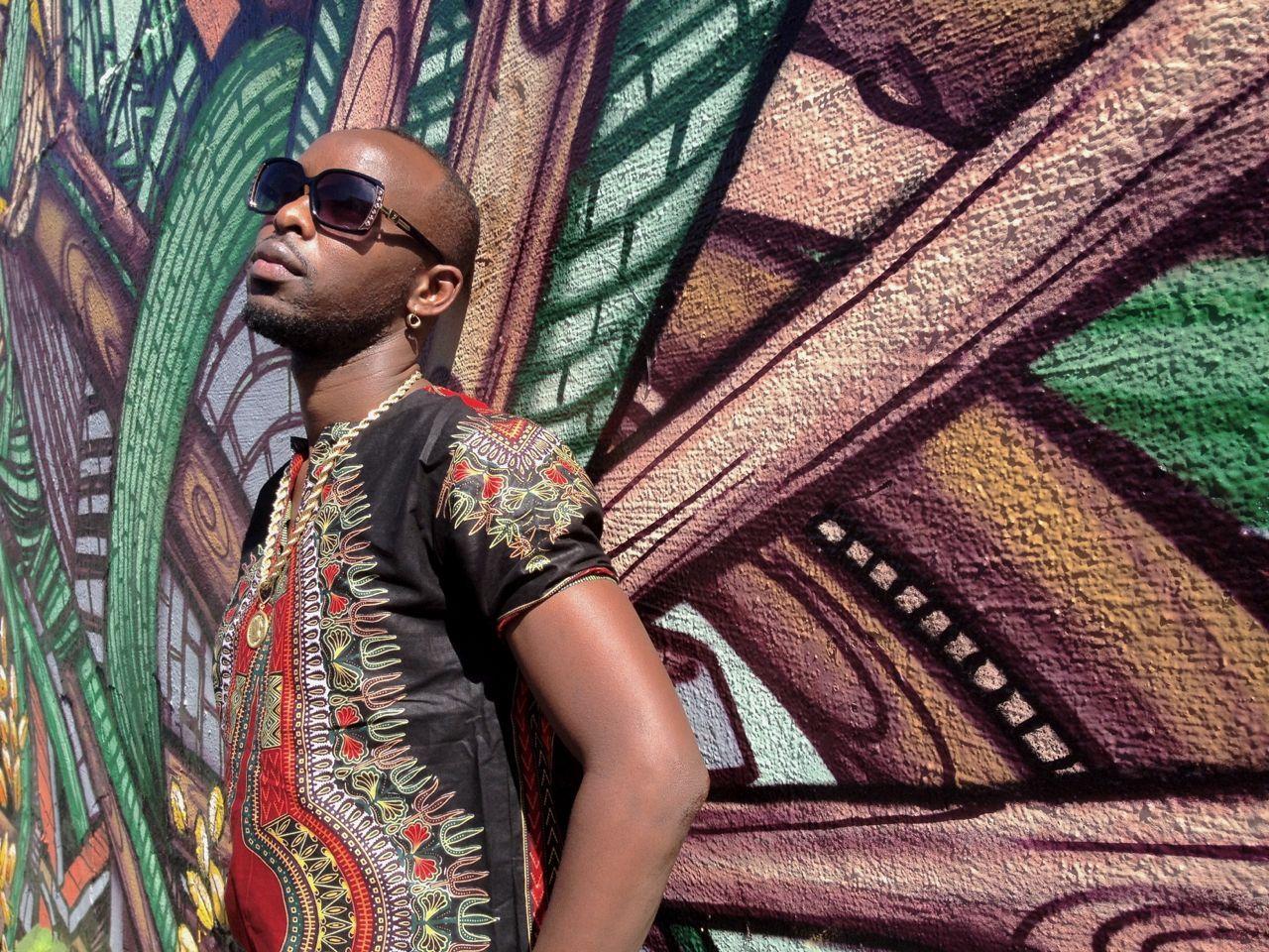 Eddy Kenzo with Brooklyn street art | PVI Artist