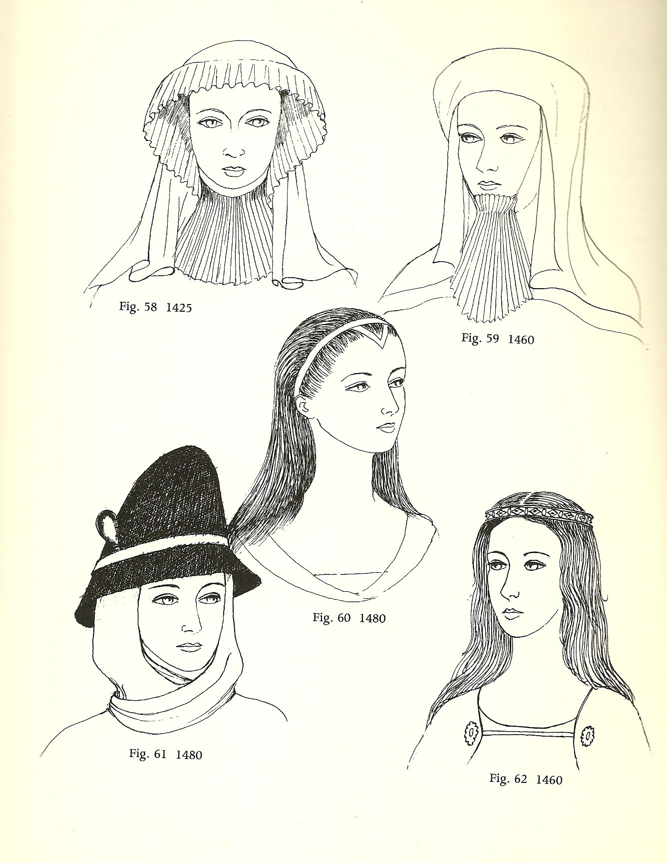 Glossary Of English Hairstyles And Headdress Historical Hats Medieval Fashion Loose Hairstyles