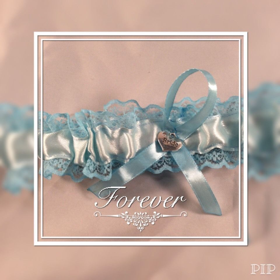 Blue Wedding Garter Uk: Wedding Garter Blue Bride Hart Something Blue Hand Made Uk