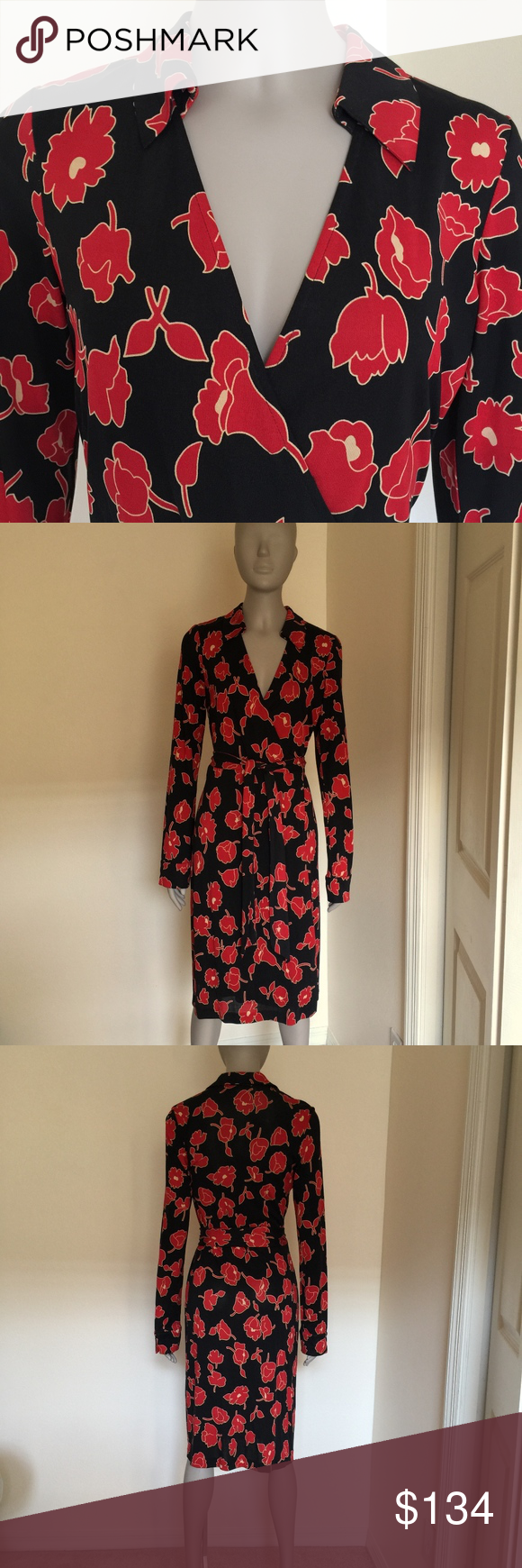 Diane Von Furstenberg Vintage Silk Wrap Dress Silk Wrap Dresses Vintage Silk Clothes Design [ 1740 x 580 Pixel ]