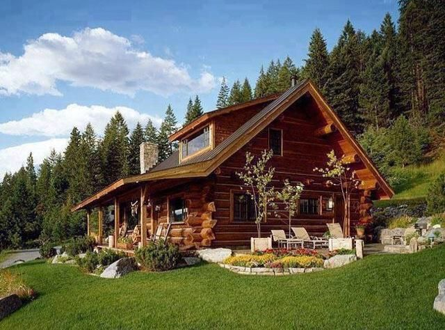 Outdoor Obsession On Twitter House In The Woods House Exterior Log Homes