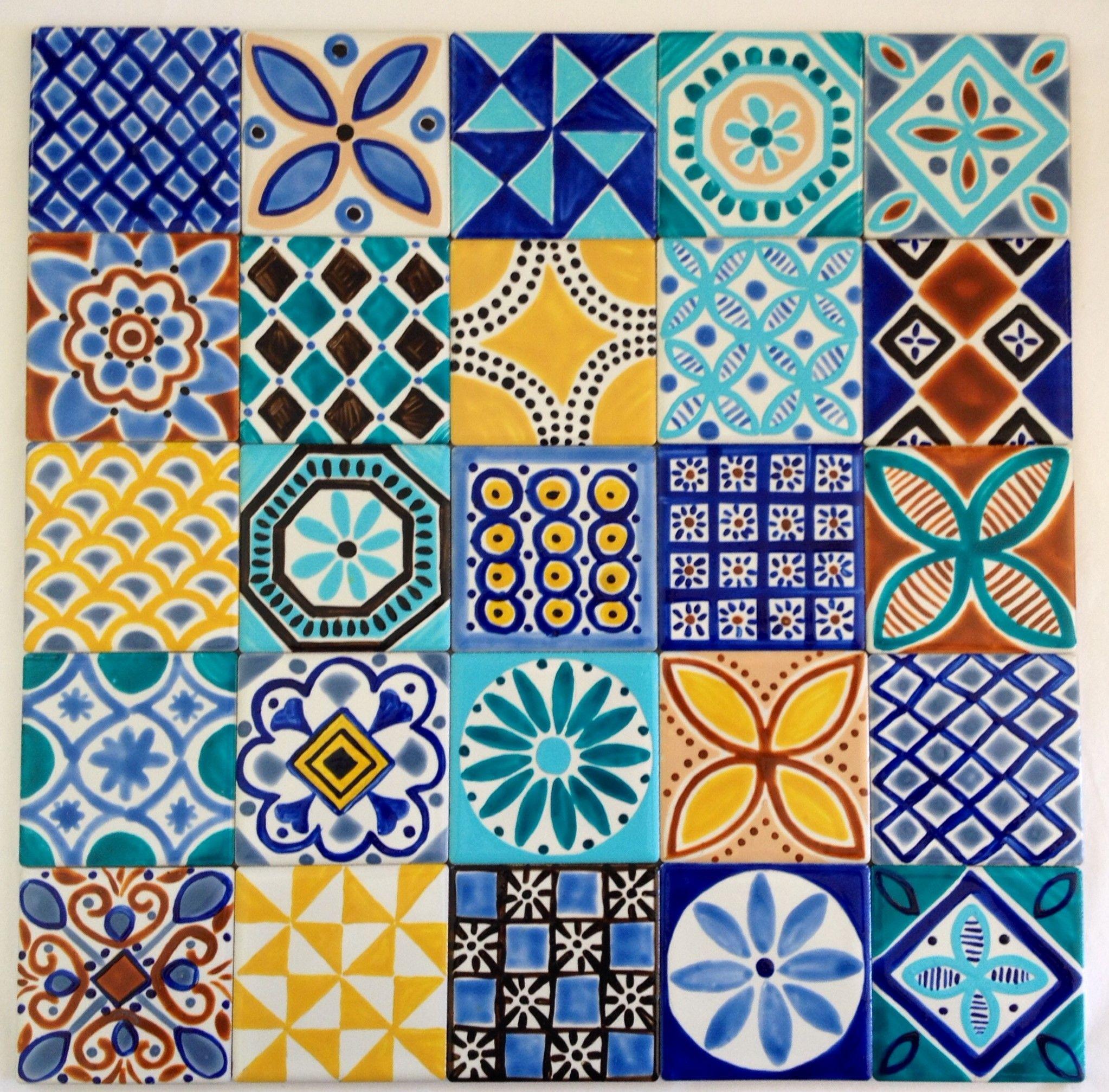 Moroccan Inspired Tiles For Splashback Www Jocelynproustdesigns Com Au Painting Ceramic Tiles Moroccan Tiles Pattern Ceramic Painting