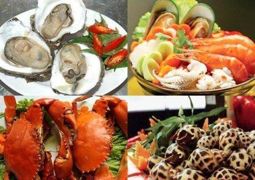 seafood in Son Tra peninsula, Da Nang