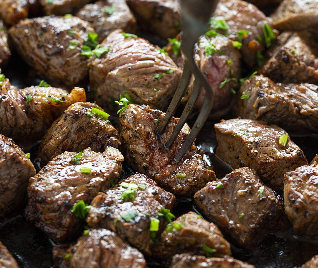Steak Bites Recipe Steak Bites Top Sirloin Steak Recipes