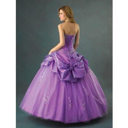 Vestido de 15 anos en Tafetán y Tul violeta | Vestidos de 15 años ...