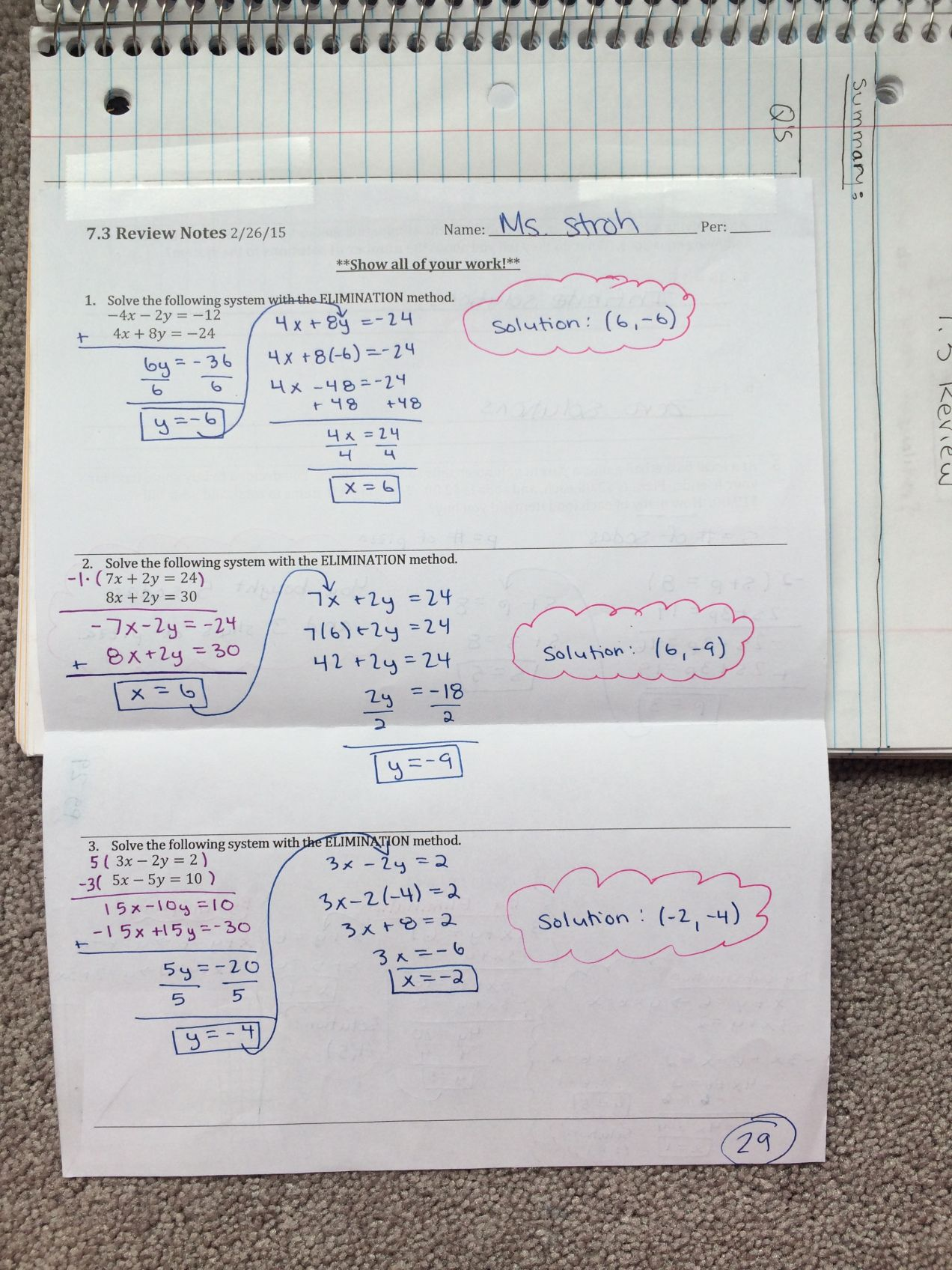 Systems Of Linear Equations And Inequalities Unit Interactive Notebook Pages Algebra 1 Math By The Mountai Interactive Notebooks Linear Equations Equations