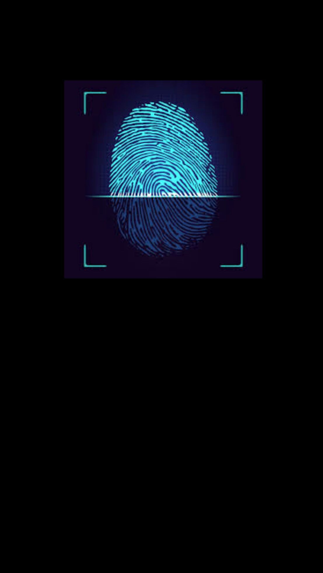Fingerprint Black Wallpaper Iphone Android In 2019