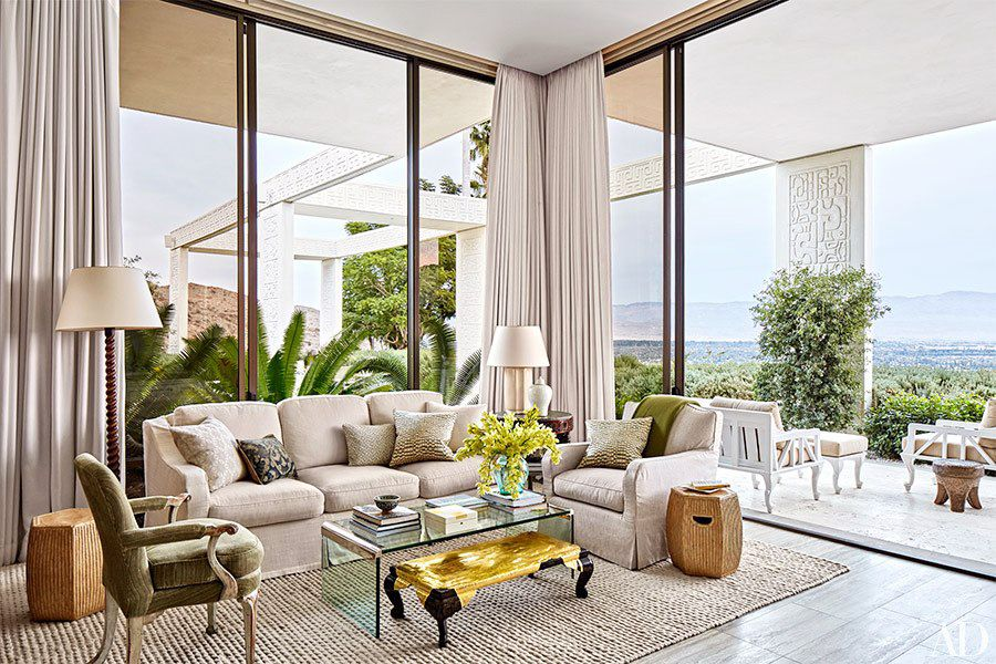 Neutral Living Space With Rich Tones