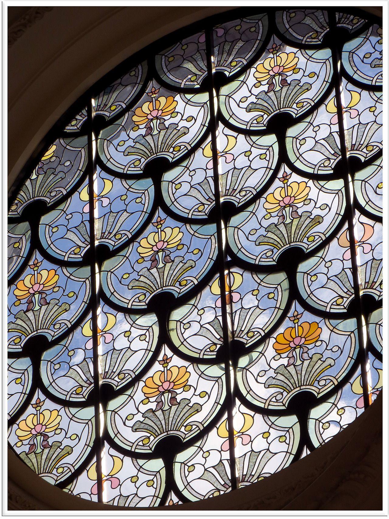 Un vitrail du Petit Palais, à Paris.