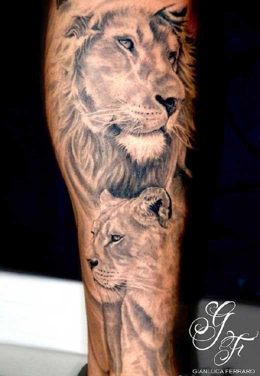 Tatuaje De Leon Negro