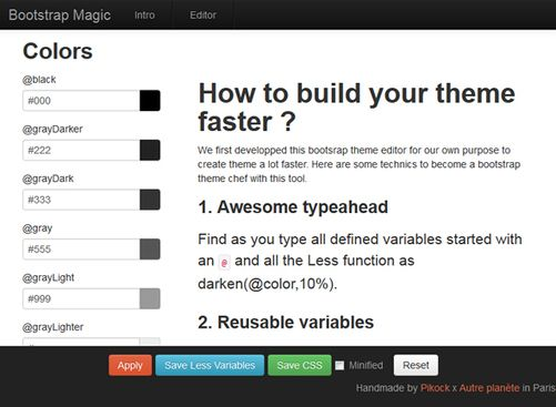 WebDev #Tools : Bootstrap Magic - A Twitter Bootstrap themes generator