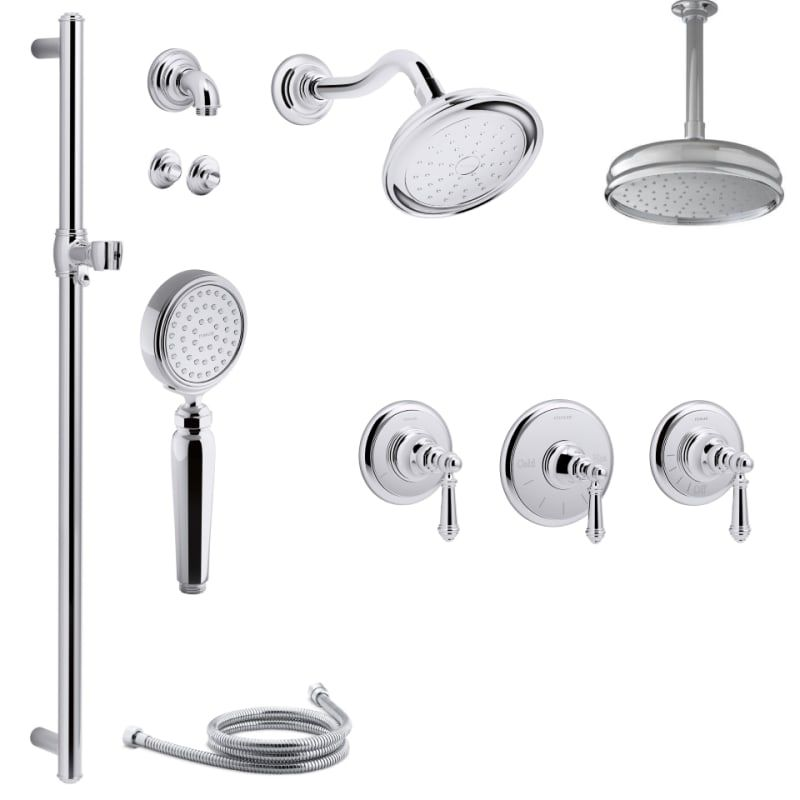 Kohler K-ARTIFACTS-MS17S-4 Artifacts Thermostatic Shower System with ...