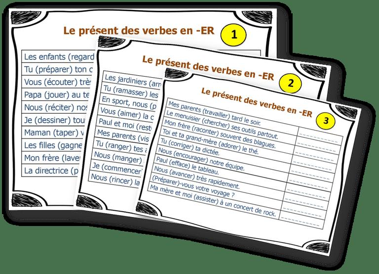 Fiches A Taches Conjuguer A L Indicatif Present L Ecole D Ailleurs Indicatif Present Conjugaison Exercices Conjugaison