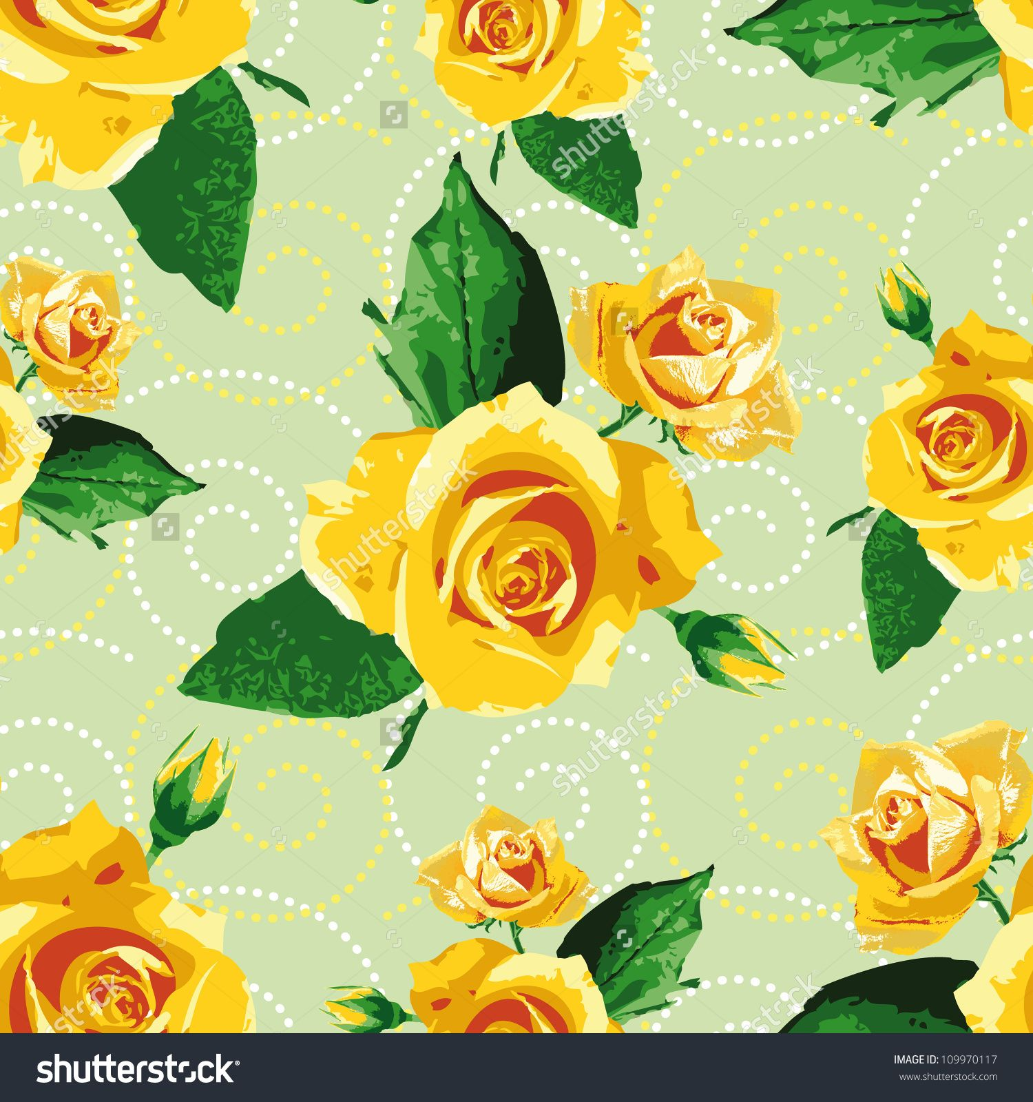 Vector Rose Seamless Flower Background Pattern Floral Fabric